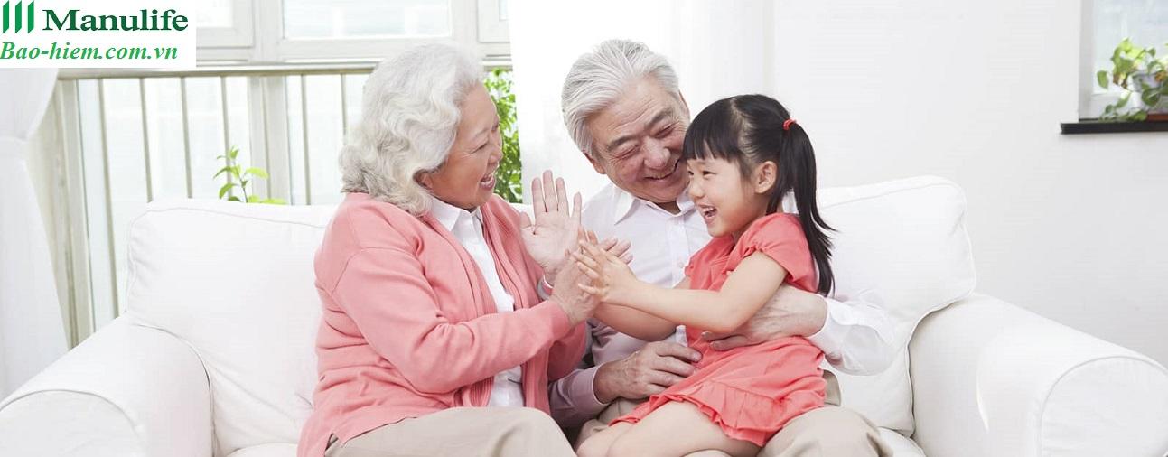bảo hiểm nhân thọ người già, bảo hiểm sức khỏe, cuộc sống an nhàn, gia đình tôi yêu, bảo hiểm hưu trí